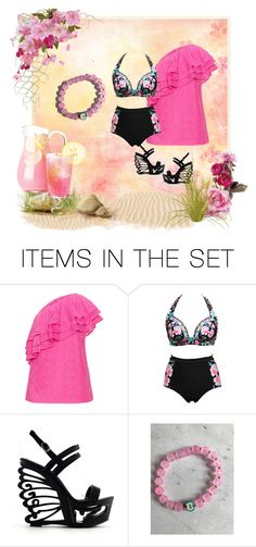 """""""Summer Fun Pink Lemonade"""" by mroz-naps ❤ liked on Polyvore featuring art, etsyfru and beyoubyjacqueline"""