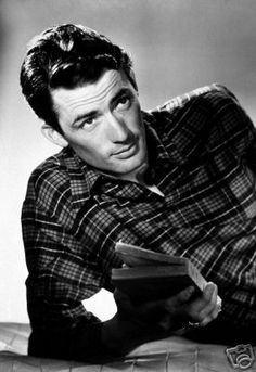 Chiseled jaw, his portrayal of Atticus Finch, and that voice...oh, that voice. Mr. Gregory Peck.