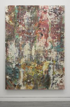 Liam Everett Untitled (Eulalia), 2014 Acrylic, enamel, alcohol, and salt on oil primed linen 195.6 x 137.2 cm 77 x 54 in