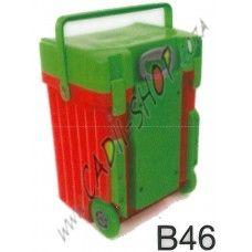 Cadii School Bag - B46 (Green Lid - Red Body)