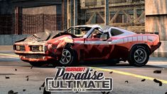 Original Burnout Paradise with all DLCs; Burnout Paradise the Ultimate Box on PC. This is not the remastered version, I will play it later on. Burnout Paradise, Paradise City, Gaming, Videogames, Games, Game, Toys
