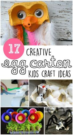 16 Cute Egg Carton Crafts - In The Playroom