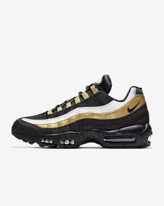newest d45be 174b5 Air Max 95 OG Black Metallic Gold White Black Style  Picked up at Sneaker  Politics, New Orleans because. Who Dat!