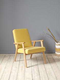 Sessel im Retro-Stil - Blau Velours+Leinen gelb+Rosa+Senfgelb - 5