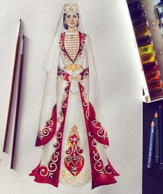 Fashion Illustration Tutorial, Dress Illustration, Fashion Illustration Dresses, Dress Design Sketches, Fashion Design Drawings, Fashion Sketches, Turkish Fashion, Russian Fashion, Fashion Drawing Dresses