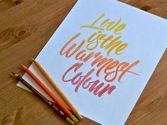The Warmest Coloured Pencils by Ryan Hamrick