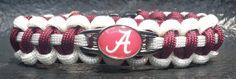 Alabama Crimson Tide Paracord Bracelet with by ArmCandyDesignsTN, $16.00