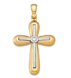 ΚΤΑ1108 -Χρυσός βαπτιστικός σταυρός 14Κ Symbols, Letters, Art, Art Background, Icons, Letter, Kunst, Fonts, Glyphs