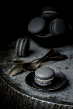 Instead of sweet macarons, make macarons savory with a little mustard for a unique spin on a traditional French dessert. We suggest the Black truffle mustard with a soft cheese such as Emmental or Deux de Montagne for a small but decadent bite.