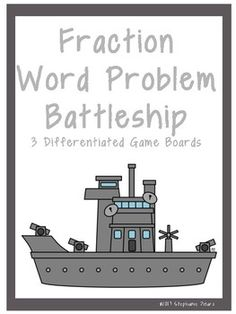 This product consists of 20 task cards with multi and single-step fraction word problems. Correlates with VA SOL 6.6 There are three game boards to differentiate for your students.  ~The first game board works with questions 1-20. This is for your higher level students and/or making the activity last longer.