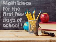 Back to School Math ideas. Very useful ideas for the first week of math in your upper elementary classroom.