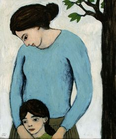 mother and child by brian kershisnik