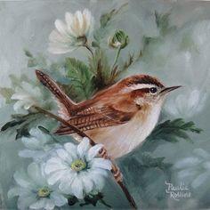Art: Field of Daisies by Artist Paulie Rollins Watercolor Bird, Watercolor Paintings, Bird Paintings, Pretty Birds, Beautiful Birds, Feather Art, Backyard Birds, Bird Illustration, Bird Drawings
