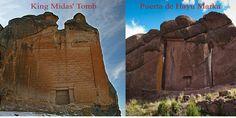 Puerta de Hayu Marka or Gate of the Gods in Peru & Tomb of King Midas in Turkey