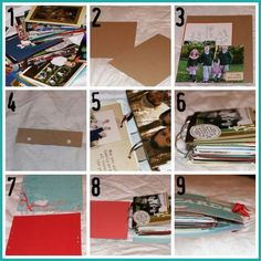 Create a booklet out of old greeting cards.