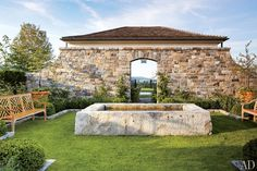 This is more of the exterior stone! An Elegant New York Farmhouse by Gil Schafer : Architectural Digest