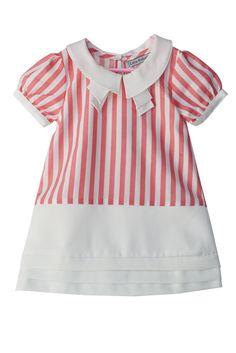 Little Babushka - Candy stripped pink dress