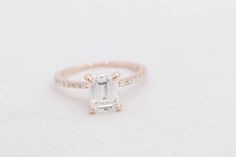 Hey, I found this really awesome Etsy listing at https://www.etsy.com/listing/523152446/rose-gold-engagement-ring-moissanite