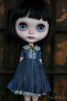 Caribbean Blue Silk Blythe Dress Set par CupcakeCurio sur Etsy