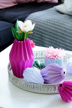 Giveaway// DIY Origami Plissees Deko in Frühlingsfarben