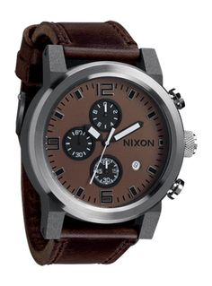 The Ride by cincodesign.com for Nixon.  Matte blasted case and brushed bezel added to the Horween Leather strap make this tough as nails.