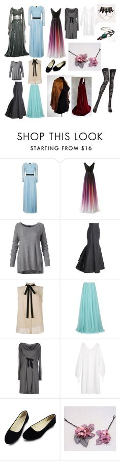 """""""Rosie(MQ)"""" by victorianne-hughes ❤ liked on Polyvore featuring Topshop, Oscar de la Renta, Jenny Packham, Epoque, Twin-Set, Three Graces and Pierre Mantoux"""