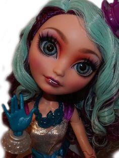 ☠ OOAK custom Ever After High doll Madeline Hatter monster disney repaint  bjd ☠ #Mattel