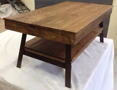 Reclaimed wood coffee table with painted steel by FarmGateDesigns, $275.00