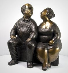 For Always - Rose-Aimée Bélanger creates wonderful figures, full of life and humour in sandstone and bronze.
