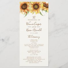 Beautiful, Sunflower Wedding Program my best friend died, my own best friend, happy best friend day bestfriends #bestfrienddog #BestFriendShit #bestfriendbirthday, christmas diy, diy christmas decorations, diy christmas ornaments, christmas table decor Country Style Wedding, Quinceanera Invitations, Anniversary Quotes, Watercolor Texture, Love Messages, Wedding Programs, Bridal Shower, Presentation, Place Card Holders