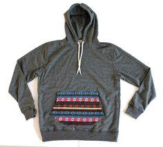 Bohemian Long Sleeve Hoodie Charcoal Sweatshirt by Trendbeach