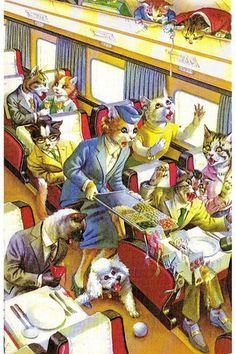 Alfred Meinzer cat illustration