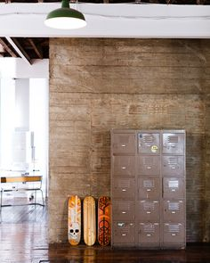 Terrific textures inside a wonderful office space.