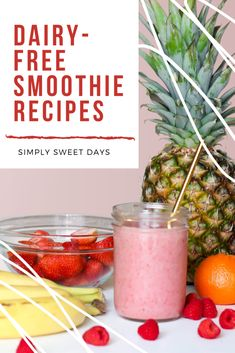 Kids will love these deliciously easy fruit smoothies. They can be made dairy-free or with your favorite type of milk. Sneak in some mild veggies like avocado and spinach to boost the variety without taking away from the fruity flavors! Sweet Days, Make Ahead Brunch, Smoothies For Kids, Free Fruit, Fruit Smoothie Recipes, Easy Family Dinners, Sweetest Day, Morning Food, Freezer