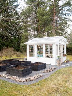 Backyard Greenhouse, Outdoor Spaces, Outdoor Decor, My Secret Garden, Outdoor Gardens, Gazebo, Outdoor Structures, Patio, Gardening
