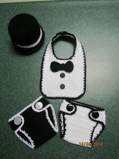 Tuxedo shirt, diaper cover and top hat pattern.  Not free.