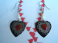 Valentine's Gift Heart Earring Heart Jewelry by DesignsByMaral