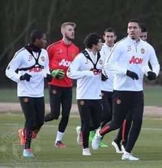 United's Spanish speaking lads with Chris Smalling ;-) 9.1.2015