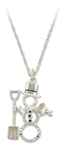 Snow man Black Hills Silver Pendant Necklace - Snowman Jewelry Landstrom's Black Hills Gold Jewelry, http://www.amazon.com/dp/B006DH3TCK/ref=cm_sw_r_pi_dp_wST.qb1TBCNWS