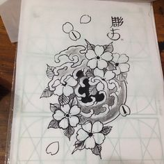 #sketch #whenzou #papeldearroz #nanquin #pincel #sakura #japanesetattoo #orientaltattoo #tattoo #jogorapido