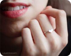 Sterling Silver Heart Ring / LoveErica