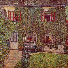 Gustav Klimt - The House of Guard - 1912 Oil on canvas 110 × 110 cm