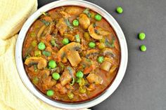 Mushroom with Peas #Mushroom #Peas