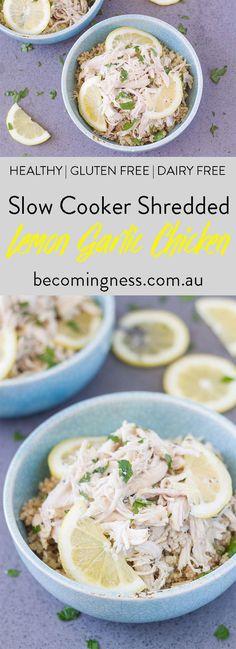 slow-cooker-shredded-lemon-garlic-chicken