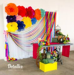 Boda Mexicana - Decoración Mexican Birthday Parties, Mexican Fiesta Party, Fiesta Theme Party, Party Kulissen, Party Time, Ideas Party, Mexican Party Decorations, Birthday Decorations, Mexico Party