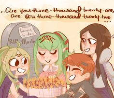 even marth showed up to wish tiki a happy birthday, look at that