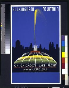 Buckingham Fountain on Chicago's lake front, world's largest and most beautiful illuminated fountain ...