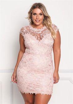 Plus Size Floral Lace Sweetheart Dress