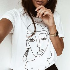 Street style Funny Printed T shirt Women Tops Casual Summer T-Shirt Woman Tshirt white Tee Shirt Femme Camiseta Feminina White Tee Shirts, White Tees, Shirt Drawing, Funny Prints, Casual Tops For Women, Summer Tshirts, T Shirt Diy, T Shirts With Sayings, Look Cool