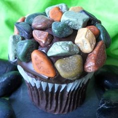 April Fool's day rock cupcakes - buy the rock candy online